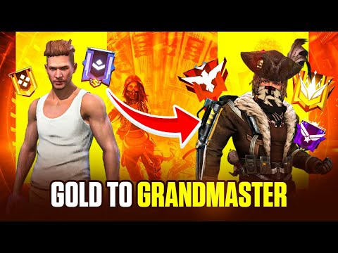 Free Fire Live Gold to GrandMaster Rank Push with Ajjubhai, Romeo and Munnabhai - Garena Free Fire