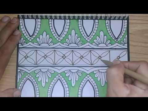 Drawing Batik Art Cara Membuat Batik Youtube