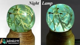 Magic Night Lamp with Resin and Wood 💡 / RESIN ART