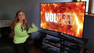8 year old Jade reacts to Volbeat - The Devils Bleeding Crown