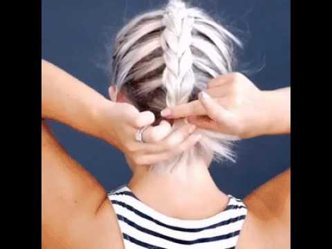 Причёска дракончик для коротких волос
