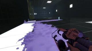 Portal 2 Beta - Sticky Gel (Adhesion / Wall-walking Gel)