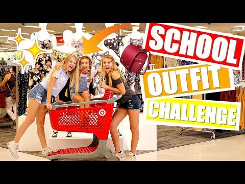 BACK TO SCHOOL Outfit Ideas Challenge at Target ft Taylor and Vanessa
