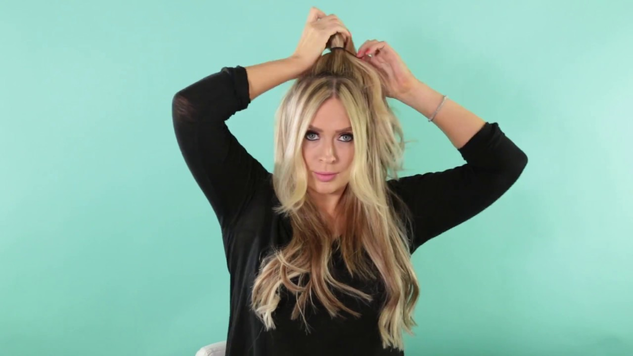 Tutorial Half Up Half Down With Clip In Extensions Youtube