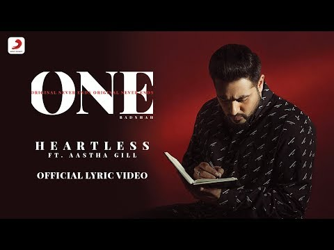 Heartless - Badshah ft. Aastha Gill| O.N.E. ALBUM | Lyrics Video