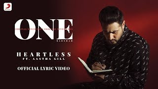 Heartless  Badshah ft Aastha Gill  ONE ALBUM  Lyrics Video