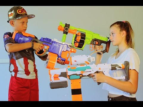 Thumbnail: Nerf WAR! BOY vs GIRL! 2
