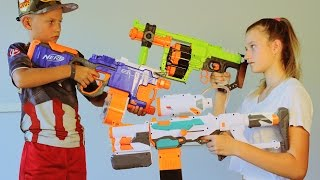 Nerf WAR! BOY vs GIRL! 2 thumbnail