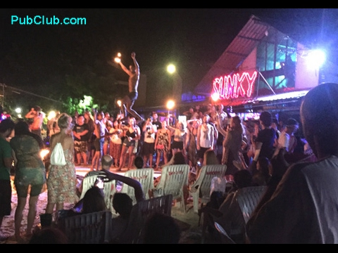 Phi Phi Thailand Nightlife Beach Bar Fire Show, Karaoke & Party Scene