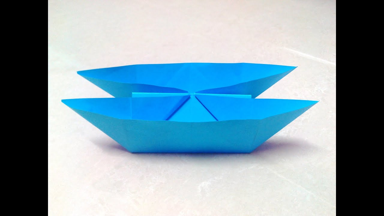 How to make an origami catamaran boat step by step youtube jeuxipadfo Image collections