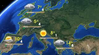 Bản tin thời tiết quốc tế (phiên bản Map)