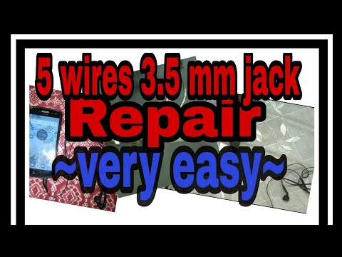 5 wires earphone (3 5mm) jack repair- easy steps with wiring diagram