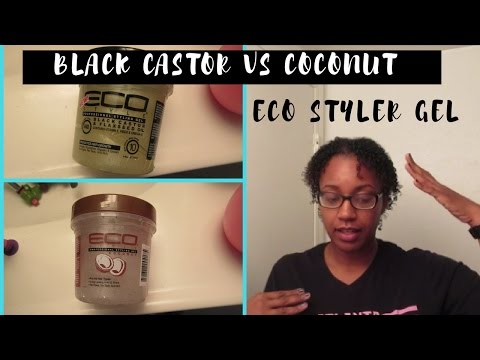 Ecostyler Gel| Black Castor & Flaxseed Oil Gel VS Coconut Oil Gel| FINE/THIN LOW DENSITY HAIR