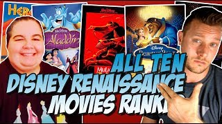 All 10 Disney Renaissance Movies Ranked & Reviewed w/ Rachel Wagner (1989-1999)