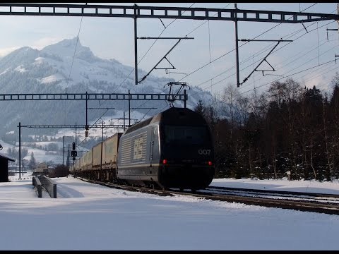 074 BLS North Ramp in winter 2005 - Spiez to Kandersteg - BL