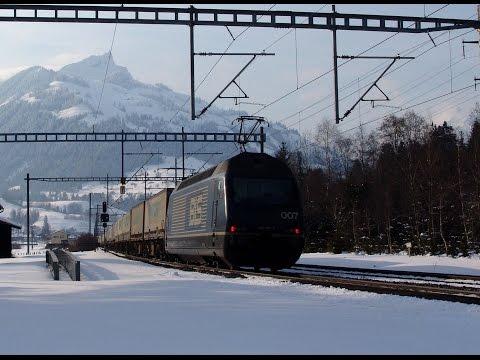074 BLS North Ramp in winter 2005 - Spiez to Kandersteg - BLS Nord Rampe - REOS DVD
