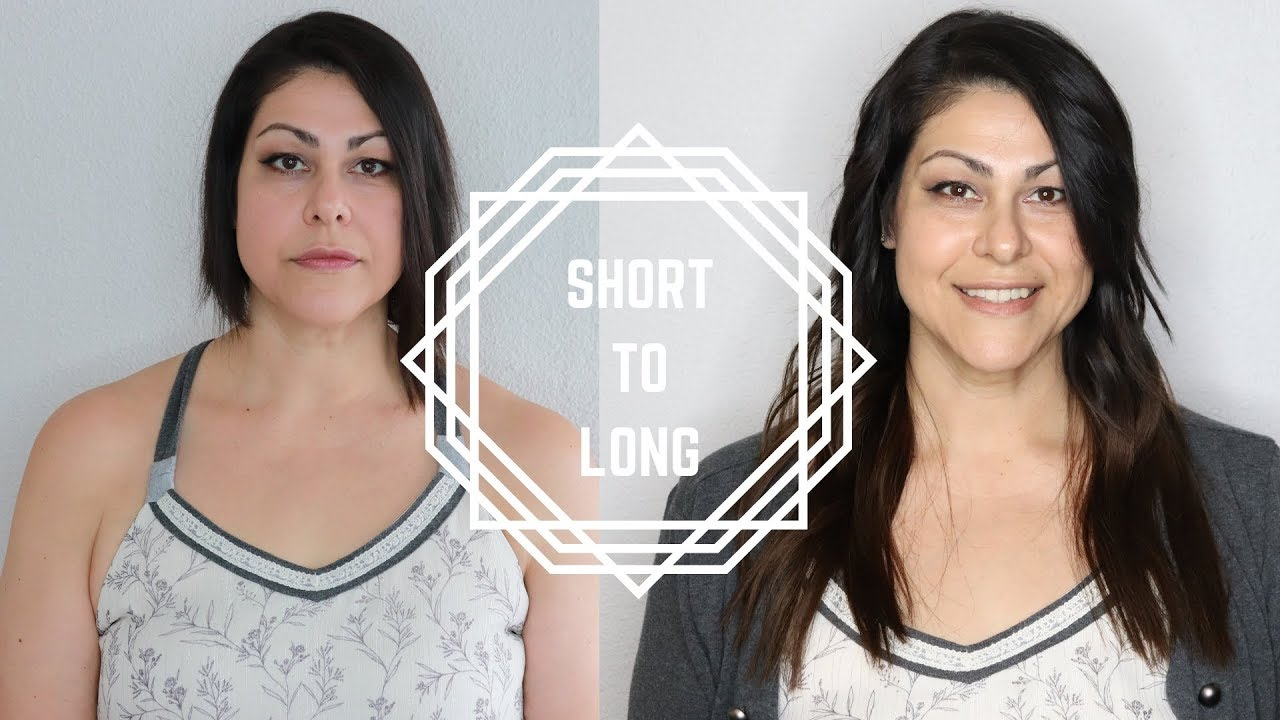 Short To Long Hair Extensions Watch Me Get Hand Tied Hair Extensions Youtube
