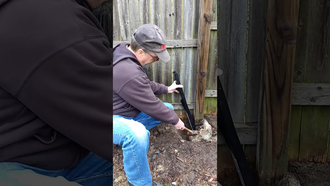 Fence posts repair with E-Z Mender - YouTube