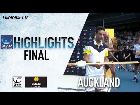 Highlights Bautista Agut Tops Del Potro For Auckland Title 2018
