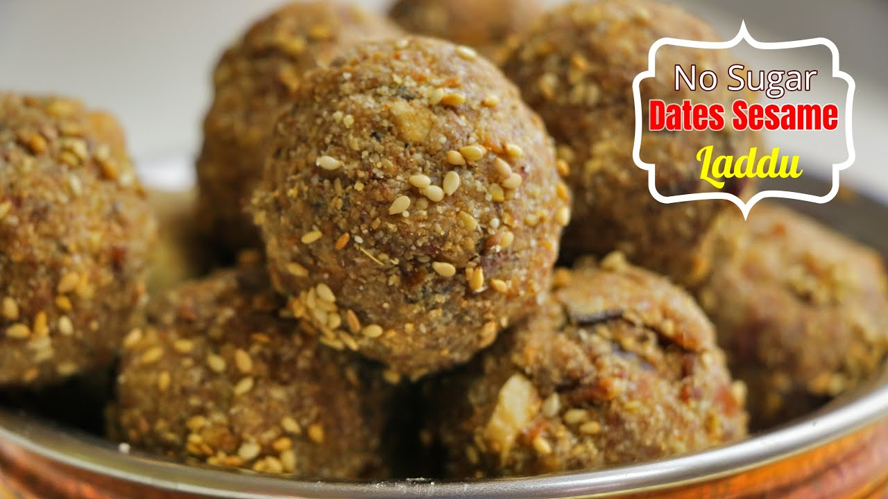ఖర్జూరం నువ్వుల లడ్డు|No Sugar Calcium Rich Laddu| Dates Laddu | Healthy  sweet recipes| Vismai Food