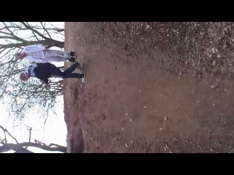 jumping down a huge hole!