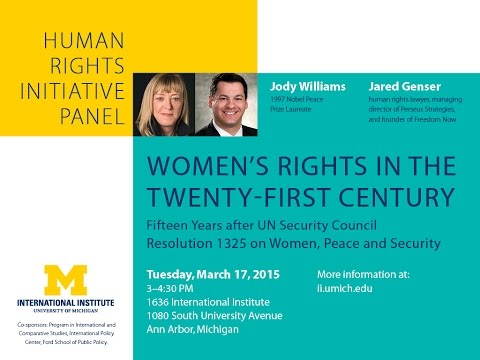 Human Rights Initiative Panel: Jody Williams and Jared Genser