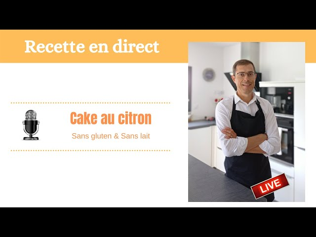 Cake au citron sans gluten facile et très moelleux