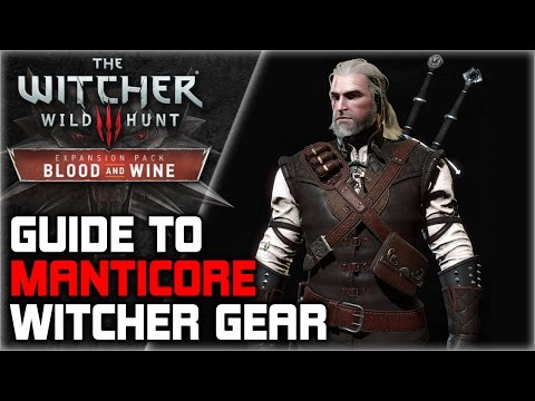 WITCHER 3 Manticore Armor Set GUIDE ► Diagrams Locations, Crafting, Stats, Appearance
