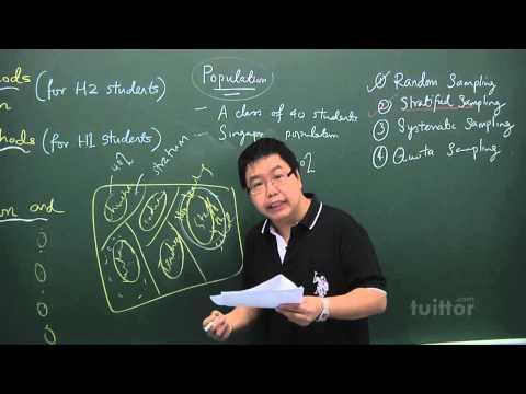 JC Mathematics H2 - Topic 18  Sampling Methods and Estimation Demo Video