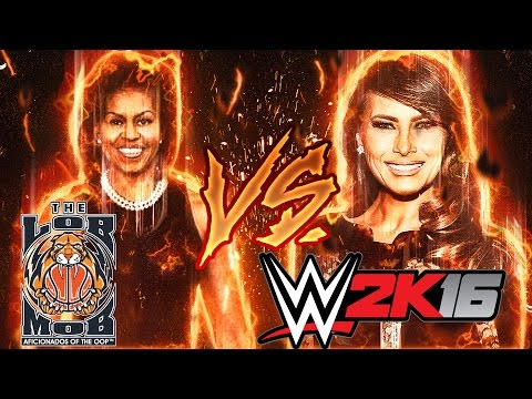 Michelle Obama Vs Melania Trump | WWE 2K16