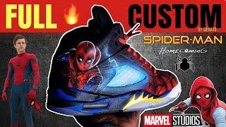 Full Custom | Spider-man Homecoming Jordan 5s by Sierato