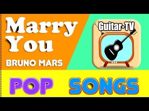 Marry You - Bruno Mars, Cover•Lyrics•Chords•Tutorial•Gitarre lernen