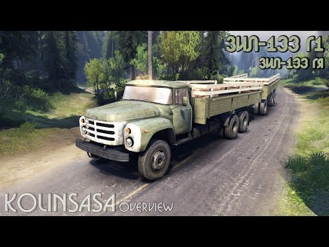 The flatbed trailer v2 for ZIL-133 G1 and ZIL-13