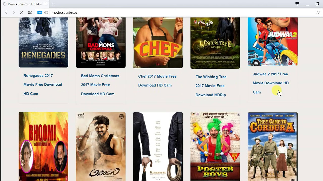 top 5 website for free movies downloading |download anymovie one-day
