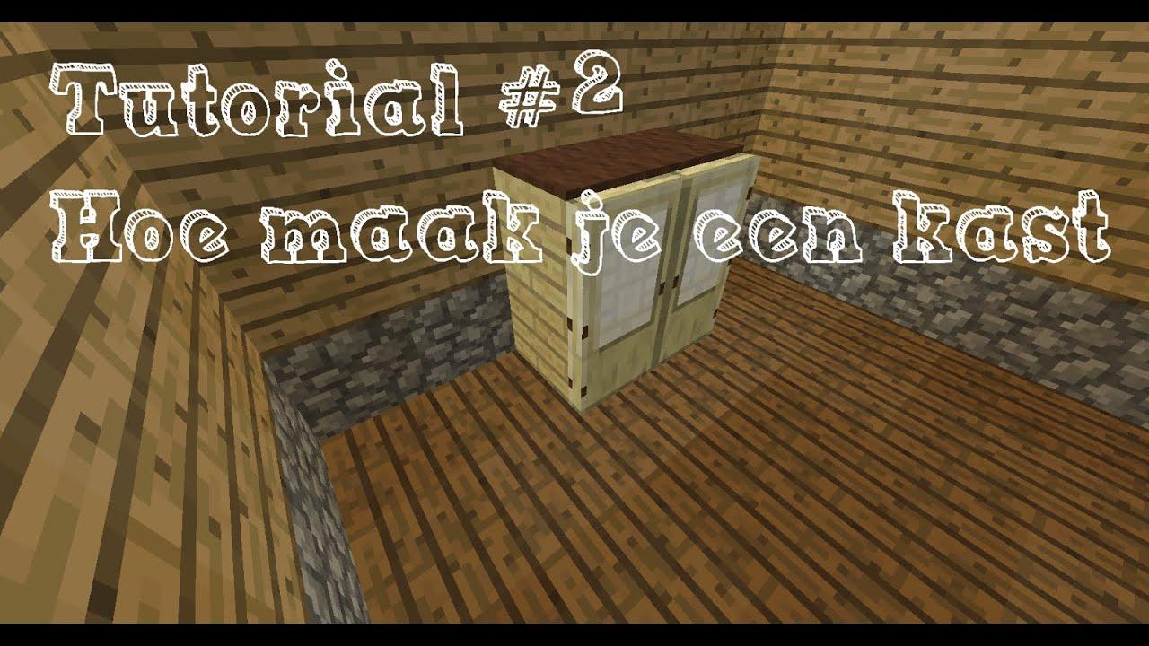 Tutorial 2 hoe maak je een kast minecraft 1 8 8 youtube for Maak een kledingkast