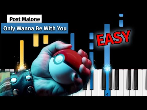 Post Malone – Only Wanna Be With You (Pokémon 25) – EASY Piano Tutorial