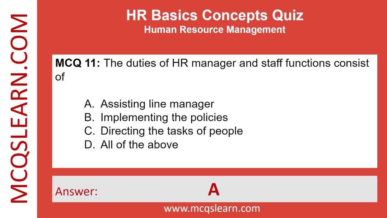 HR Basics Concepts Quiz - MCQsLearn Free Videos - YouTube