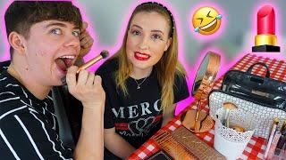 Doing my GIRLFRIENDS MAKEUP 😂  | Starting My Makeup Channel...