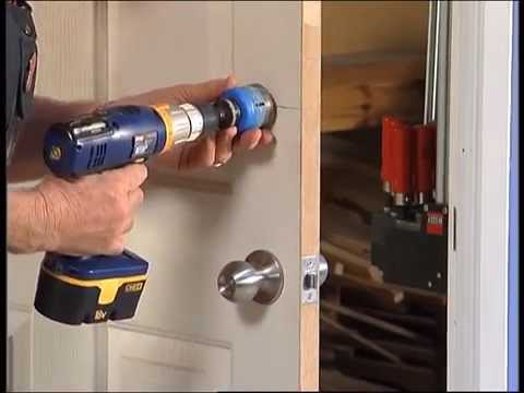 How to install a door lock diy at bunnings youtube for Door installation