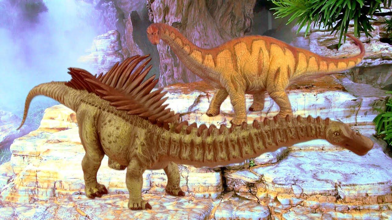 Dinosaur Fight APATOSAURUS vs AGUSTINIA Battle 공룡 ...