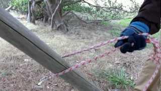 ワンコの係留紐の結び方