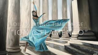 "Oil painting ""Ionic flamenco"" 