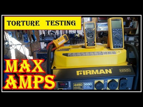 LOAD  TESTING THE FIRMAN PO3501 3550/4550 WATT GENERATOR   -  DON'T TRY THIS AT HOME thumbnail