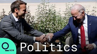Joe Biden Says 'The U.S. Is Back' As He Meets Emmanuel Macron At The G-7 Summit