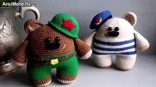 Амигуруми: схема Мишки-солдатики. Игрушки вязаные крючком - Free crochet patterns.