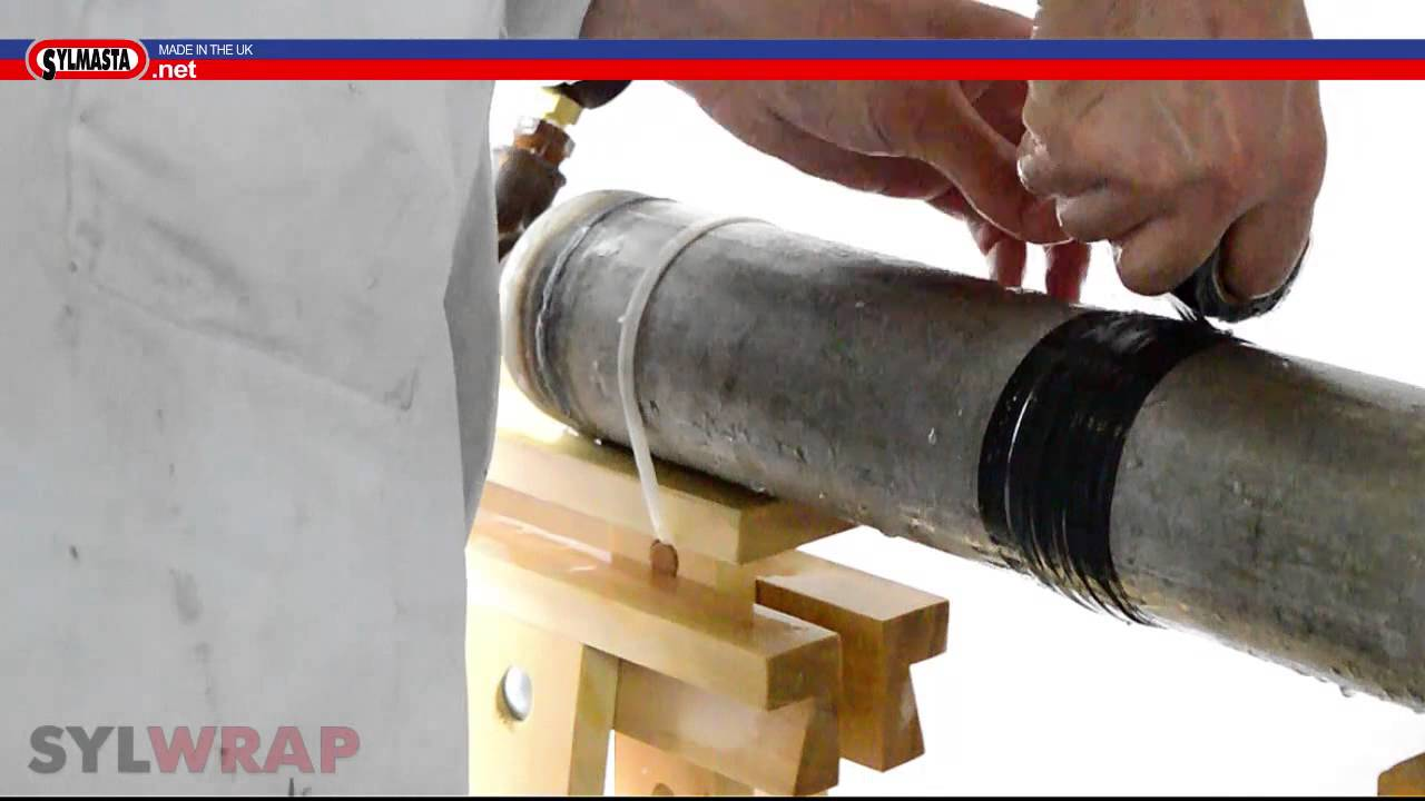 Leaking Pipe Repair - Sylmasta Pipe Burst Tape PART 1 - YouTube