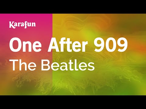 Karaoke One After 909 - The Beatles *