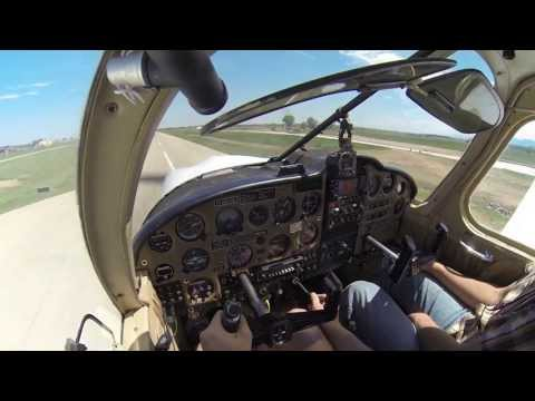 PA28 - Startup, takeoff, touch & Go (Longmont, CO - KLMO) - [1080P]