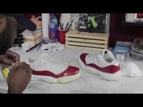 Jordan 11 Patent Leather Cleaning & Custom