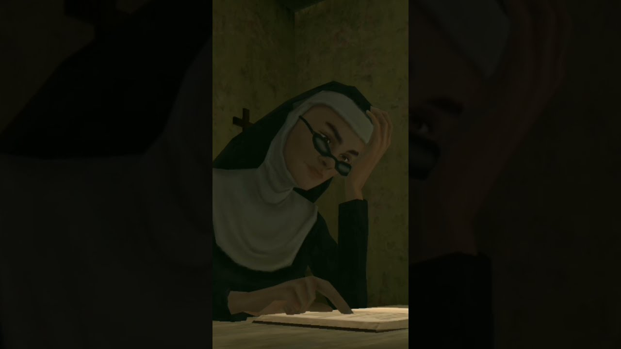 Evil Nun Try To Study #shorts